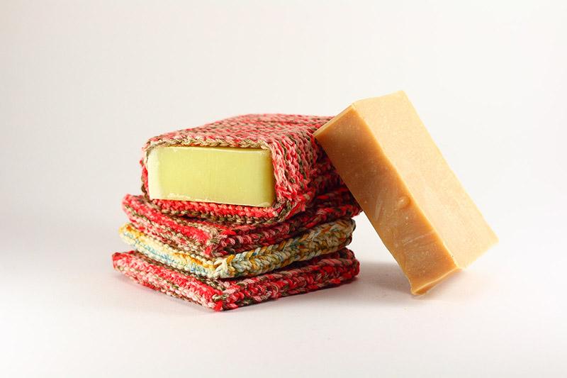 Buzunărel handmade pentru săpun, bumbac natural