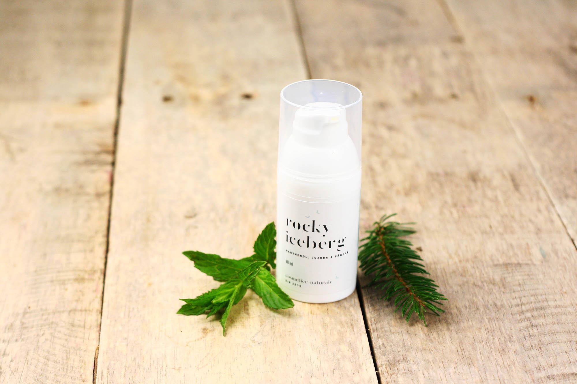 Aftershave (cremă de barbă) hidratant cu panthenol, jojoba şi cânepă - Rocky Iceberg | Endea - Tested on friends
