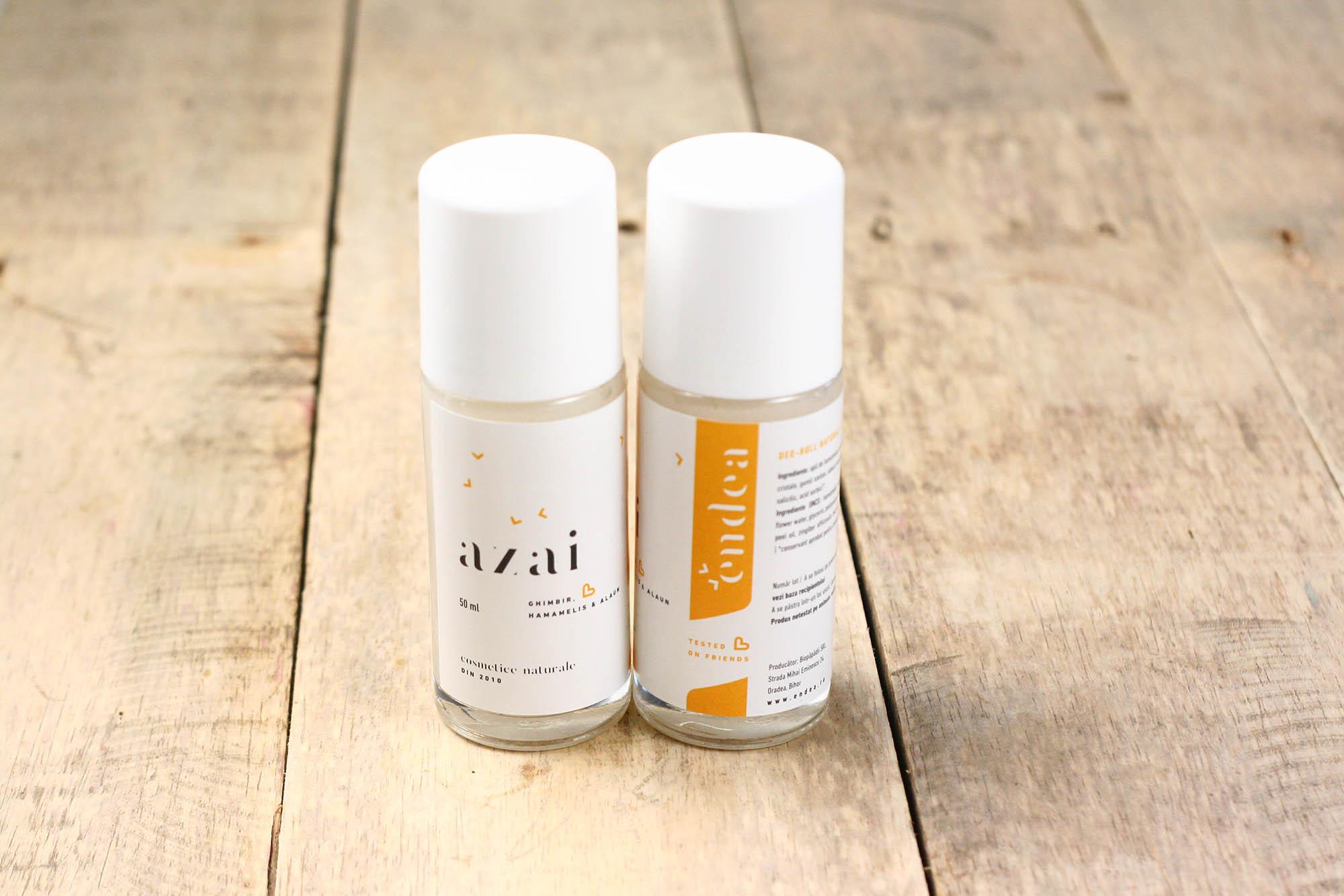 Deodorant roll natural Azai cu piatră de alaun, lămâie & ghimbir | Endea - Tested on friends