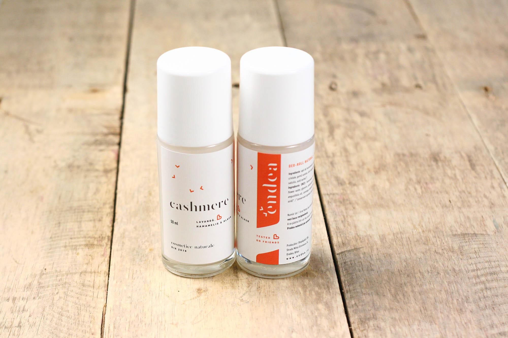 Deodorant roll natural Cashmere cu piatră de alaun, ylang-ylang & lavandă | Endea - Tested on friends