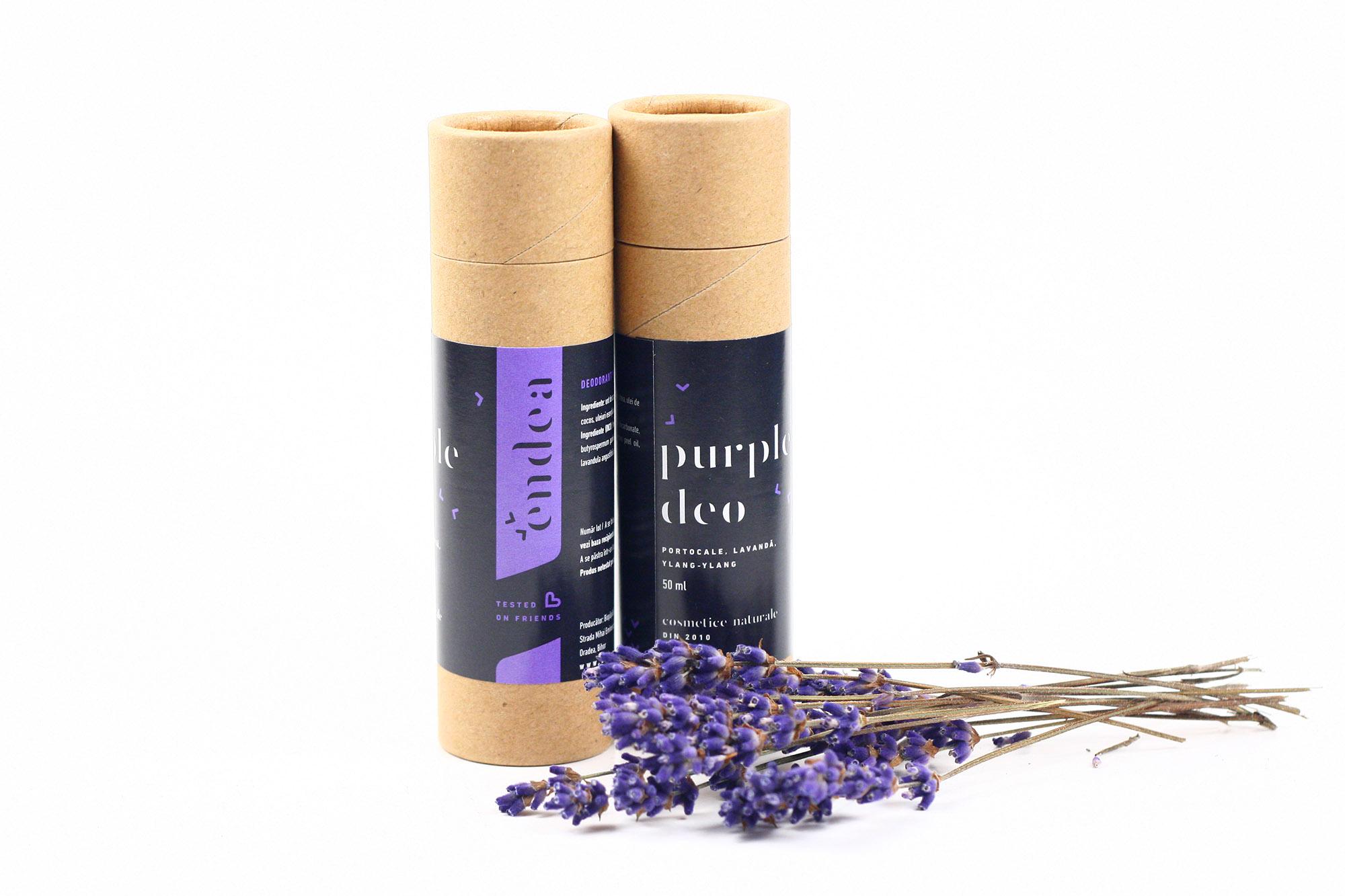 Deodorant natural feminin cu lavandă & patchouli - Purple Deo Stick | Endea - Tested on friends
