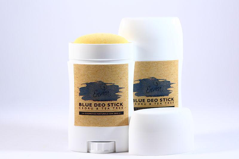 Deodorant natural cu parfum masculin de cedru - Blue Deo Stick   Endea - Tested on friends