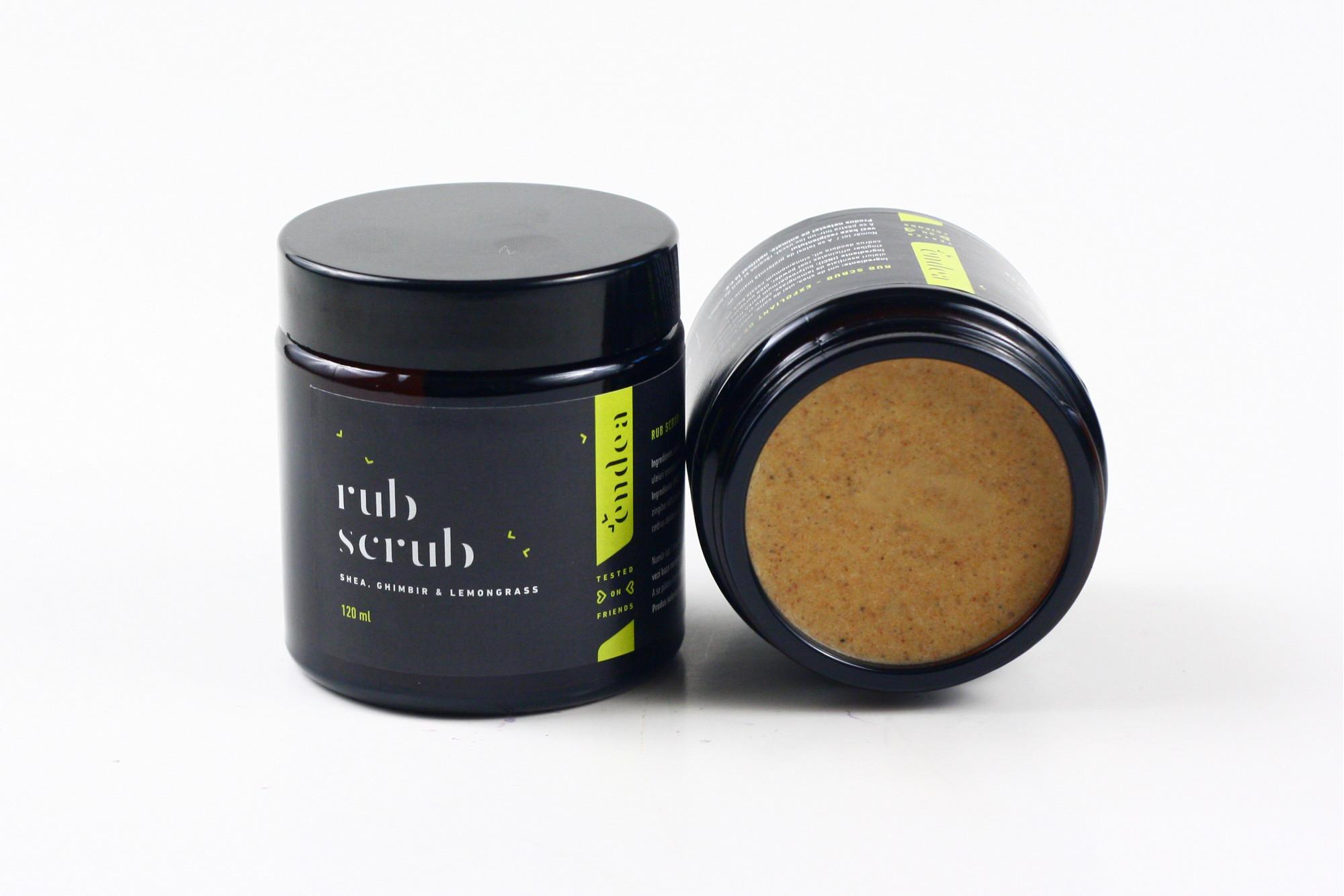 Exfoliant de corp cu ulei de caise și unt de shea - Rub Scrub | Endea - Tested on friends