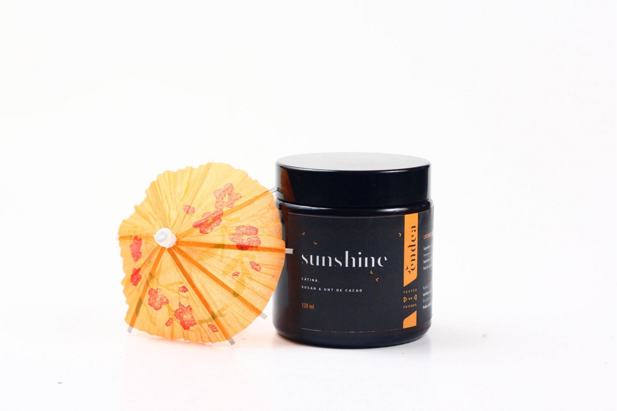 Loţiune cu protecţie solară Sunshine - FPS 20   Endea - Tested on friends