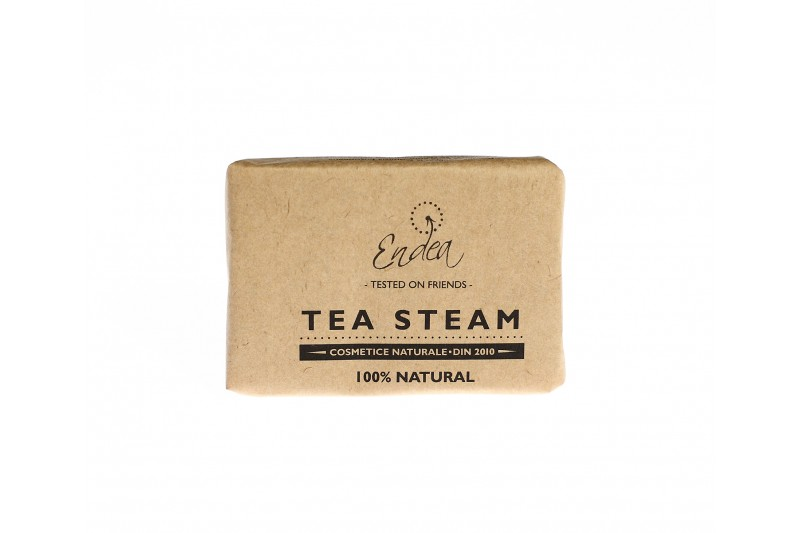 Săpun exfoliant cu ceai negru - Tea Steam | Endea - Tested on friends