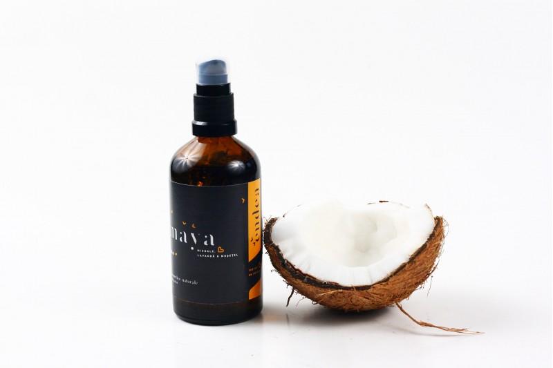 Ulei de corp pentru copii cu migdale și cocos - Maya | Endea - Tested on friends